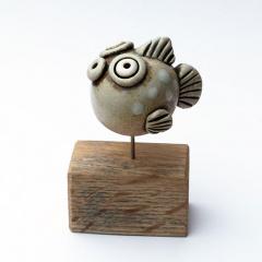 Fische_arndtboehm_Kugelfisch-weiße-Punkte